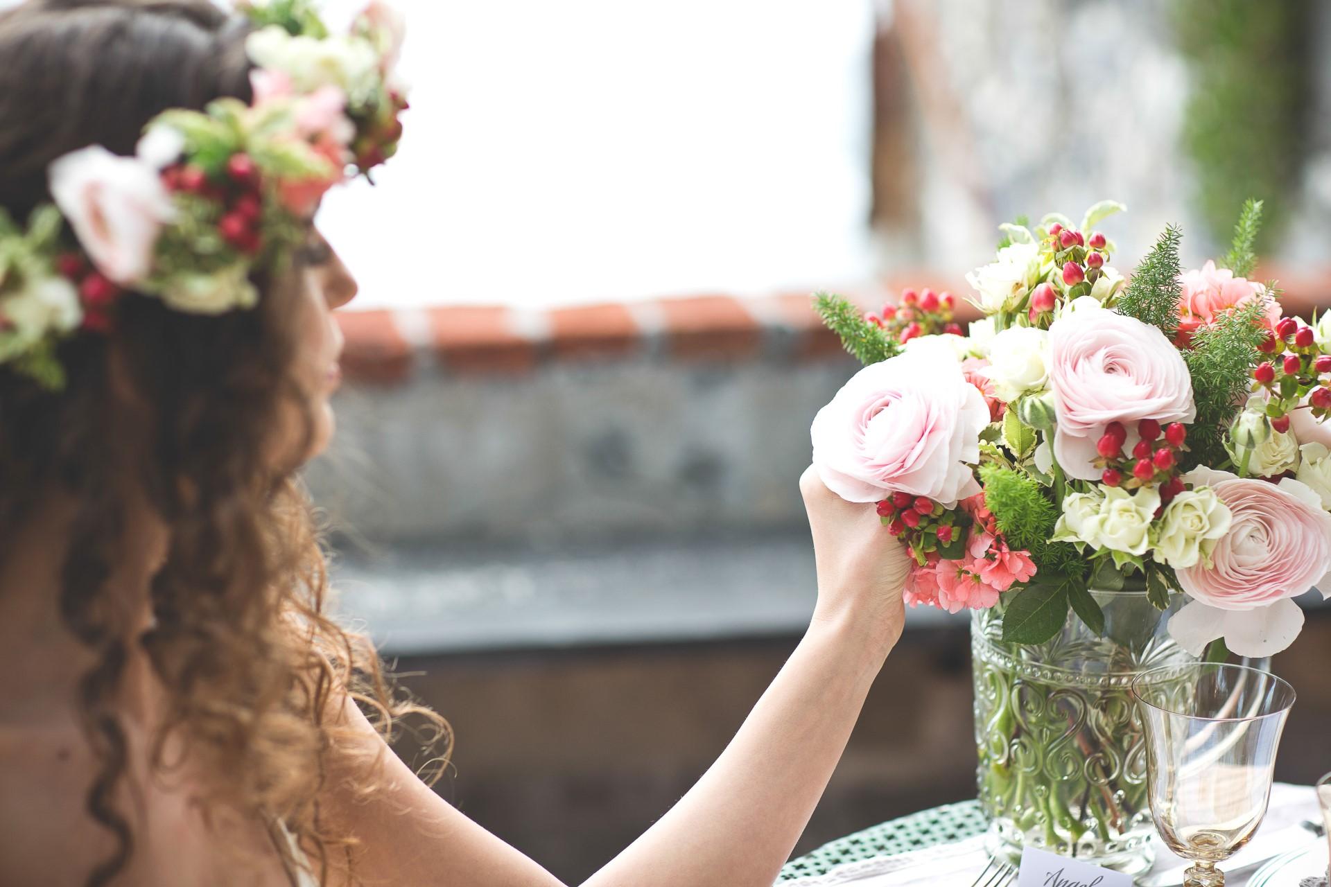 matrimonio sposa centrotavola garden pastorelli